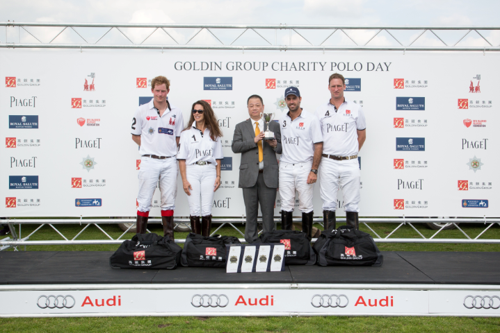 HRH Prince Henry of Wales plays for Piaget at the Goldin Group Charity Polo Cup